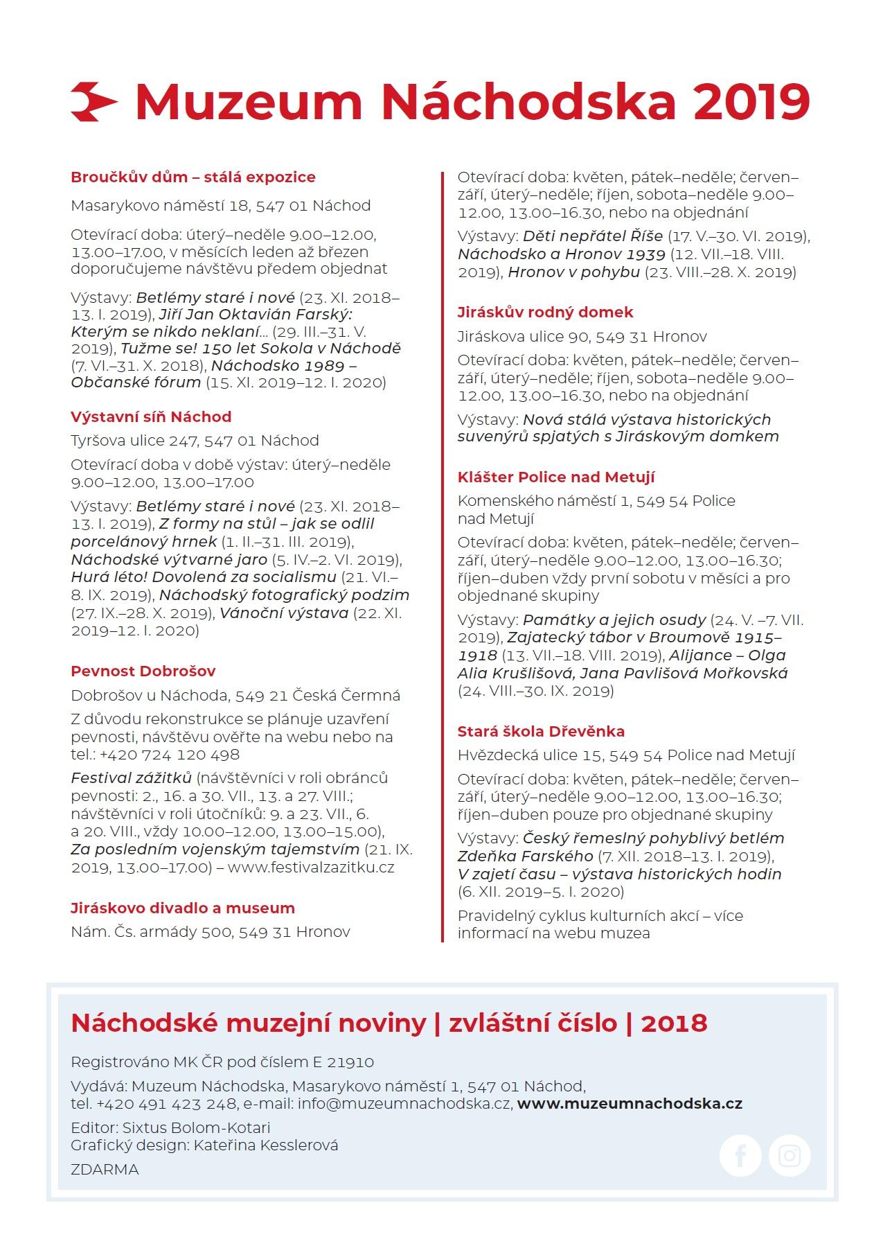 Náchodské muzejní noviny 3 2018